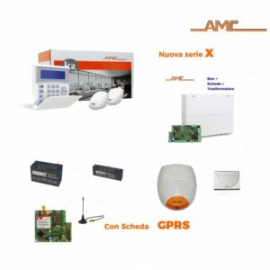AMC Kit X824 Centrale 8/24 Zone + K-blue + 2x MOUSE09 + Modulo GPRS